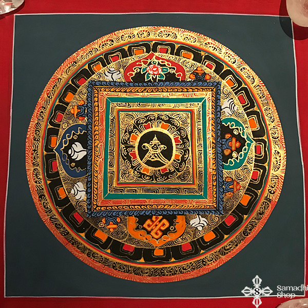 thma137 nepáli tibeti buddhista mandala festmény tibetan buddhist mandala painting