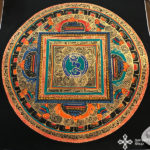 thma138 nepáli tibeti buddhista mandala festmény tibetan buddhist mandala painting