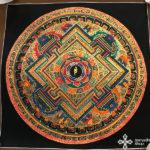 thma203 nepáli tibeti buddhista mandala festmény tibetan buddhist mandala painting