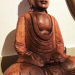 Buddha szobor mahagóni fából faragva