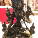 Fehér Tára nepáli sárgaréz szobor