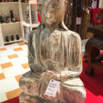 Buddha szobor fából faragott 50 cm magas