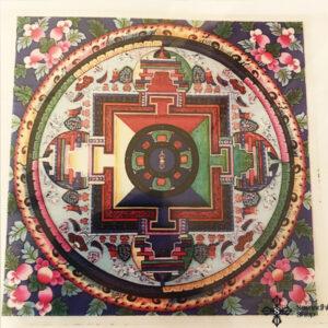 Buddhista mandala ablakmatrica