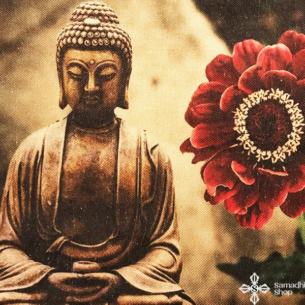 Párnahuzat Buddha ábrázolással 1