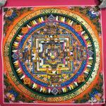 Kalacsakra mandala kézzel festett nepáli festmény 10