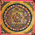 Kalacsakra mandala kézzel festett nepáli festmény 2
