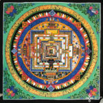 Kalacsakra mandala kézzel festett nepáli festmény 4