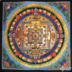 Kalacsakra mandala kézzel festett nepáli festmény 5