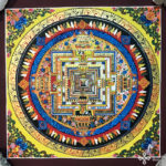 Kalacsakra mandala kézzel festett nepáli festmény 6