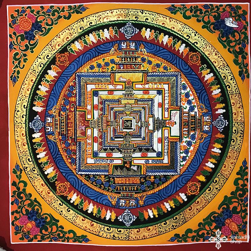 Kalacsakra mandala kézzel festett nepáli festmény 7