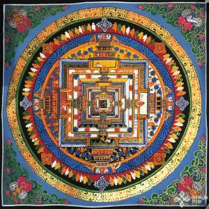 Kalacsakra mandala kézzel festett nepáli festmény 8