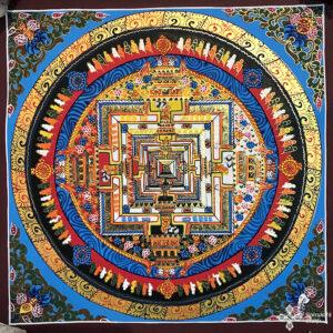 Kalacsakra mandala kézzel festett nepáli festmény 9