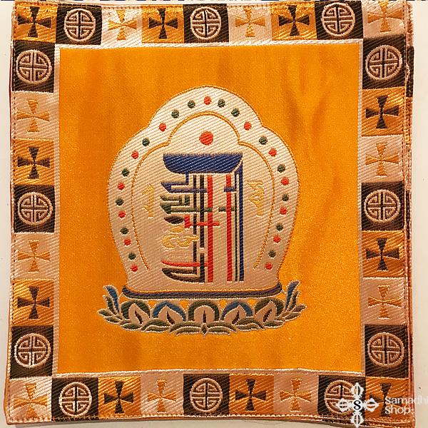 Kalacsakra szimbólumos oltárterítő