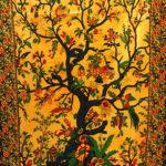 Mandala faliszőnyeg teritő takaró 25