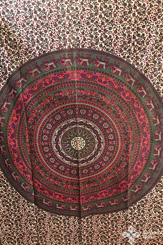 Mandala mintás pamut ágytakaró 16