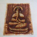 buddha mintás batikolt kép