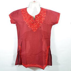 női felső ing piros