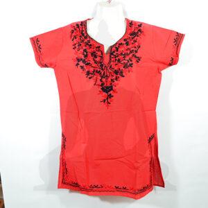 női felső piros fekete