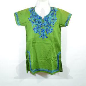 női felső zöld kék
