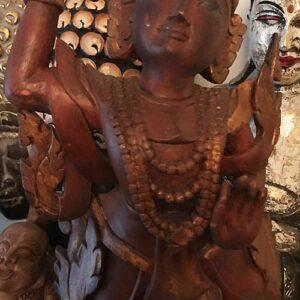Védelmező Nat szellem teak fa szobor 11