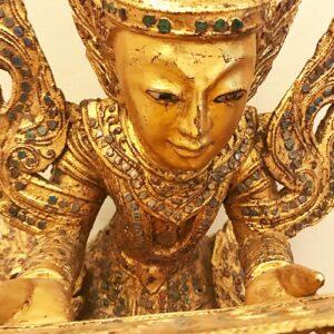 Védelmező Nat szellem teak fa szobor 2