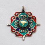 medal turkiz koral buddha szemmel