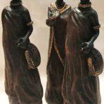 Afrikai nőalak szobor