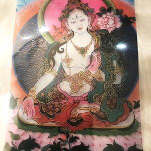 Fehér Tára Buddha ablakmatrica