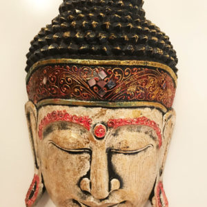 Buddha fej fafaragás nagy méretű