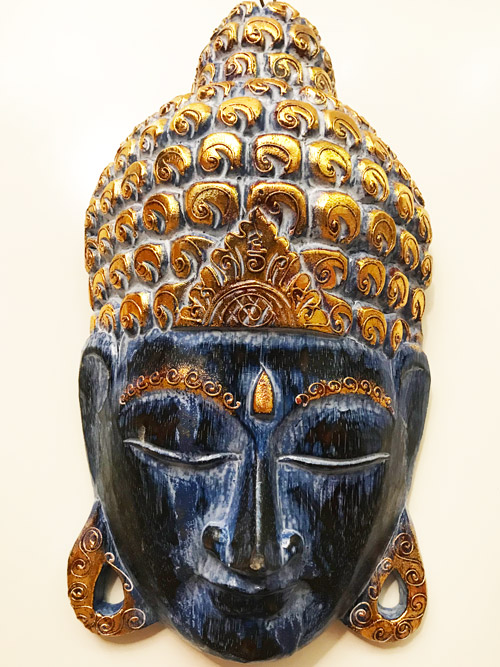 Buddha maszk fej fafaragás nagy méretű 2