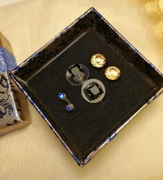 kék-arany-fülbevalő-szett-ékszer-ajándék-doboz-bizsuékszerbolt.hu