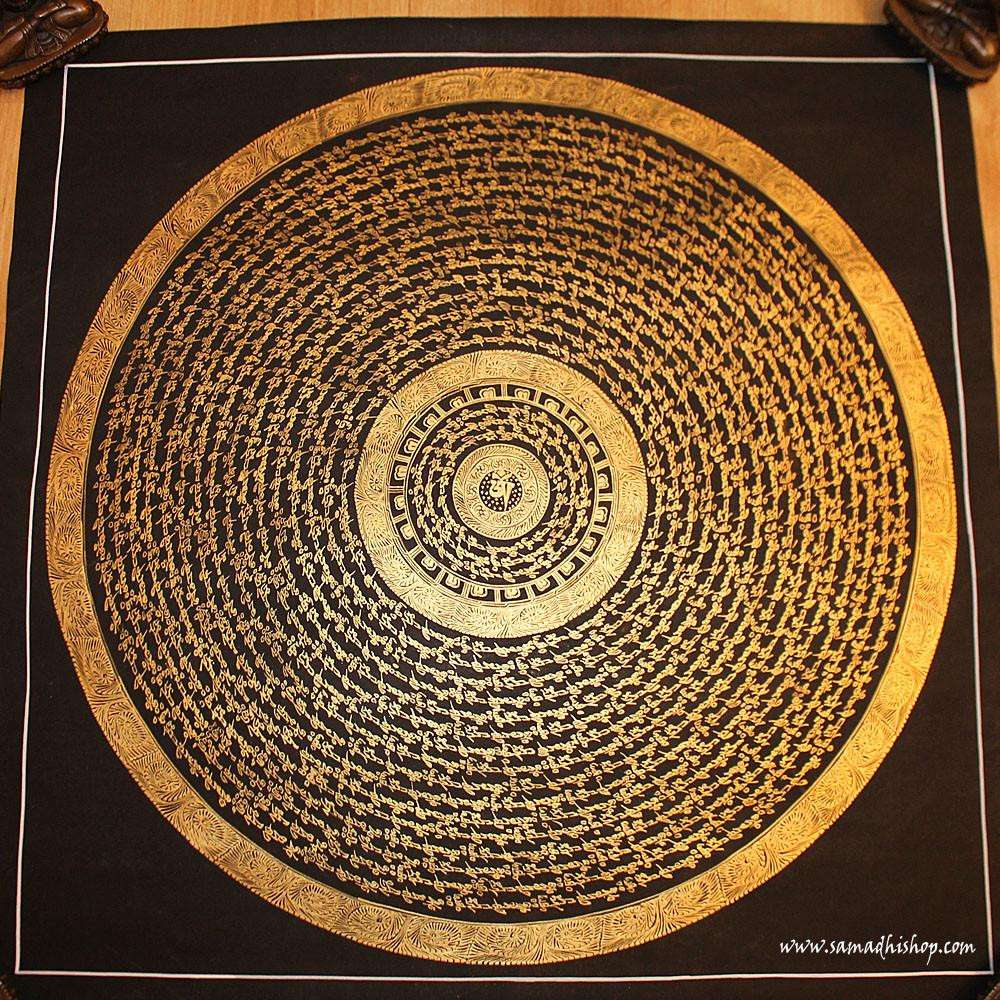HUGE Buddhist mantra mandala thangka painting
