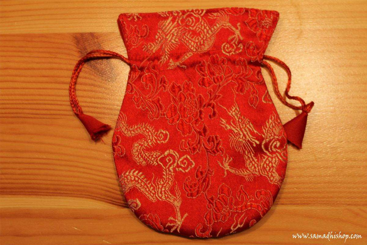 Brocade mala bag (red #1)