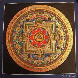 Buddhist mandala thangka painting 25x25 cm #040