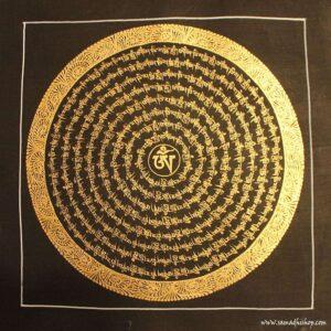 Buddhist mantra thangka painting