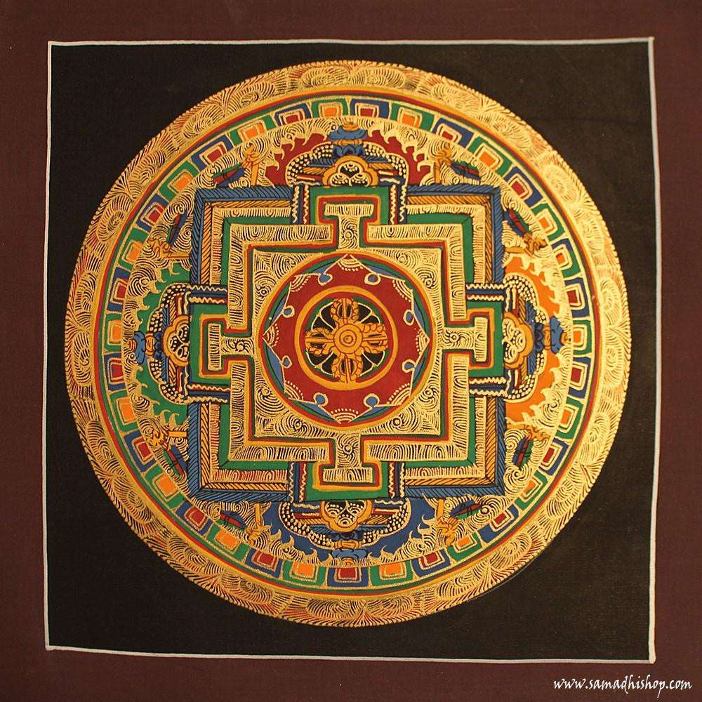 Buddhist mandala thangka painting 25x25 cm #047