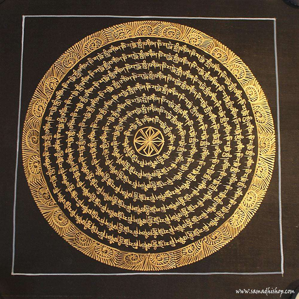 Buddhist mandala thangka painting 25x25 cm #050