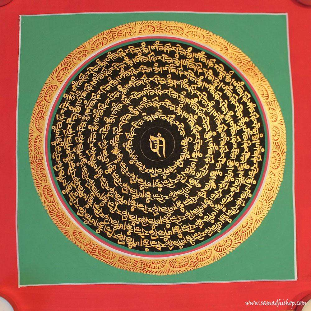 Buddhist mandala thangka painting 25x25 cm #051
