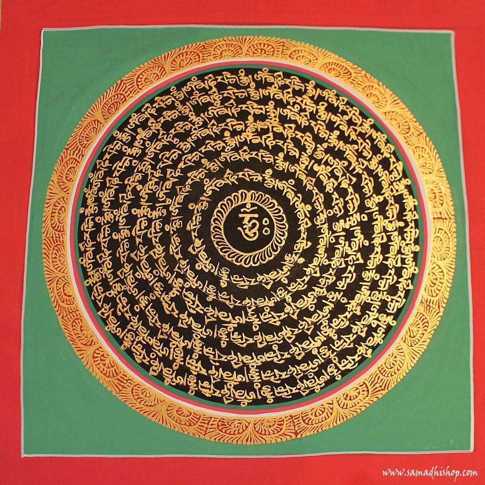 Buddhist mandala thangka painting 25x25 cm #052