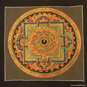 Buddhist mandala thangka painting 25x25 cm #136
