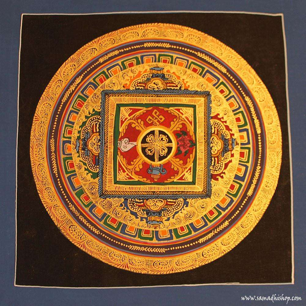 Buddhist mandala thangka painting 25x25 cm #053