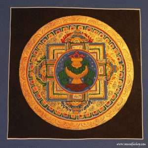 Buddhist mandala thangka painting 25x25 cm #054