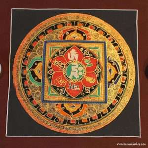 Buddhist mandala thangka painting 25x25 cm #057