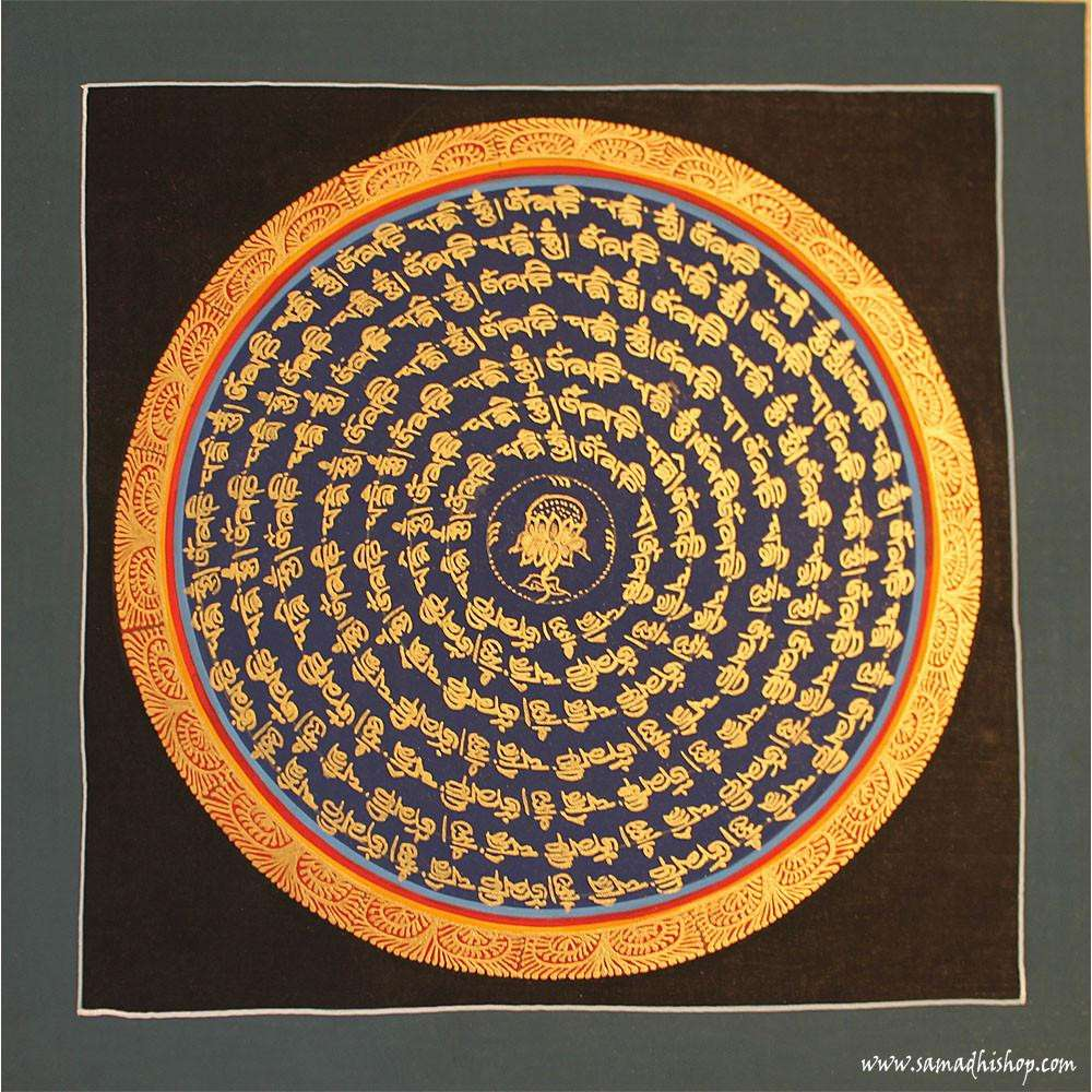 Buddhist mandala thangka painting 25x25 cm #059