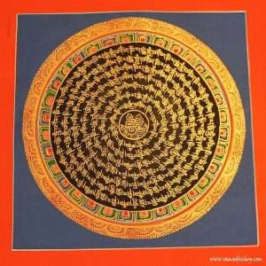 Buddhist mandala thangka painting 25x25 cm #063