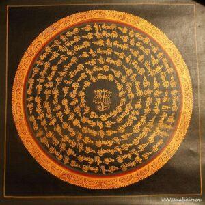 Buddhist mandala thangka painting 25x25 cm #069