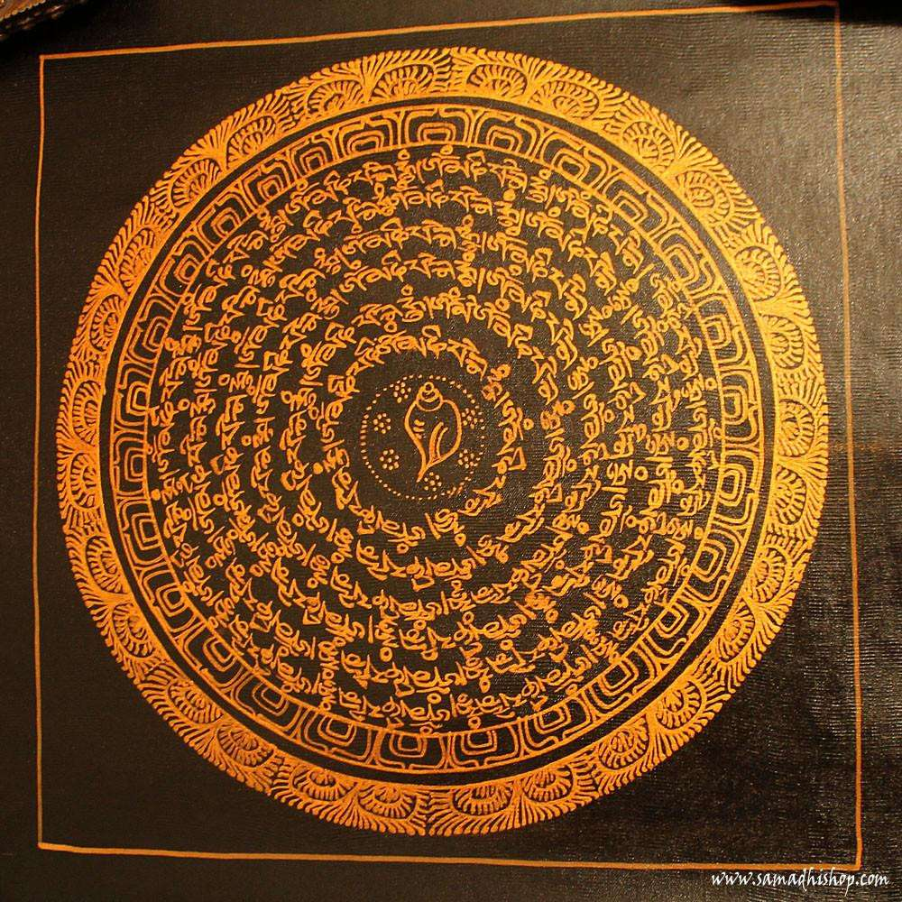 Buddhist mandala thangka painting 25x25 cm #073