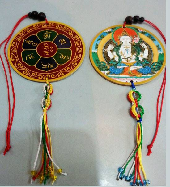 Chenrezig (Avalokiteshvara) Car / Door / Window Hanging