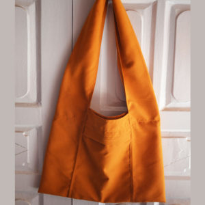 Tibetan Orange Cotton Shoulder Monk Bag