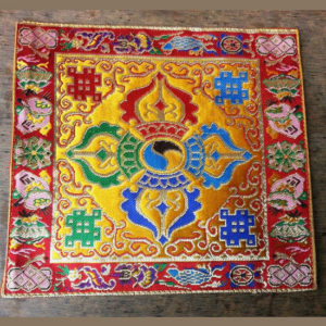 Altar Cloth With Double Dorje Symbol (Yellow)